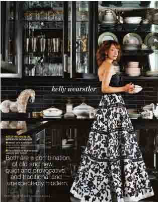 Kelly Wearstlers Kitchen Is The Of My Dreams A Strict Colour Palette And Clean Graphic Lines Are Glamorous Swanky Just Shout Old Hollywood