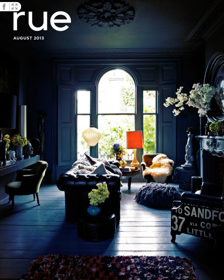 Abigail Ahern Interior featured in Rue Magazine