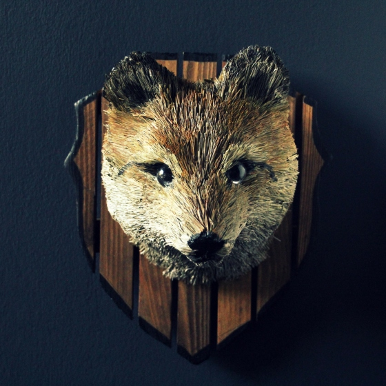 Straw Fox Head